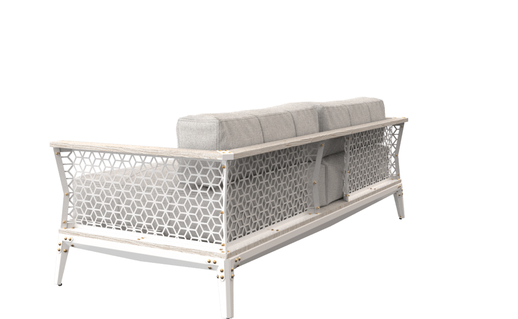 Couch Mekami Iron Furniture and Home Decor - Outdoor Sofa Designed & made from top quality raw wood, metal, and leather, our avantgarde Industrial style Metal and Iron Furniture will add excitement to your Home Decor.